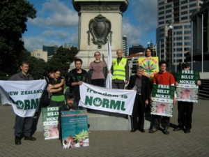NORML White Flag rally with monument