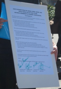 NZUSA letter signed by MP's from Green, Labour Maaori and Mana parties